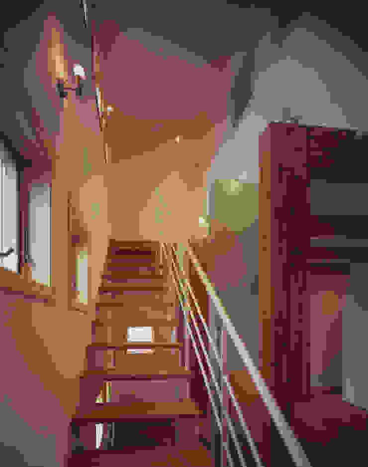 階段 和風の 玄関&廊下&階段 の エーディフォー 一級建築士事務所 和風