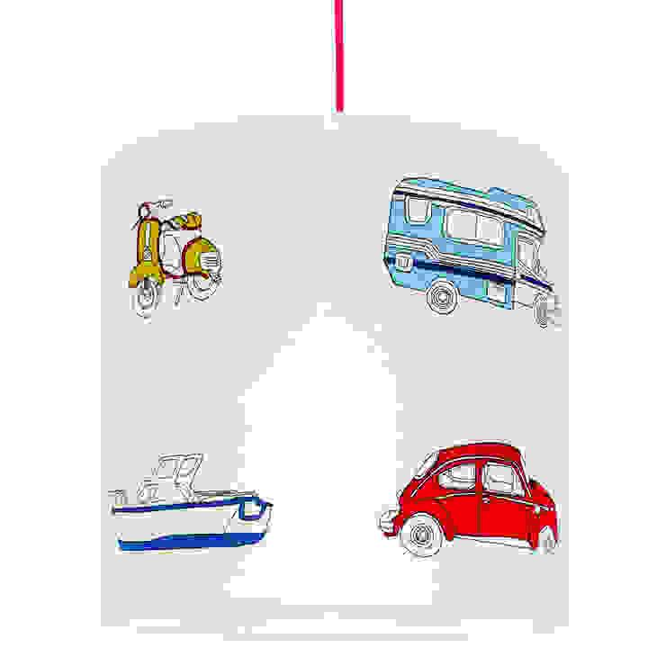 Lampa sufitowa Auta od youngDECO Nowoczesny Bawełna Czerwony