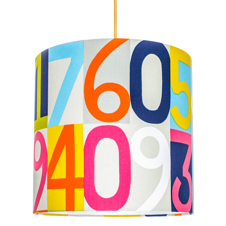 Lampa sufitowa Cyfry od youngDECO Nowoczesny Bawełna Czerwony