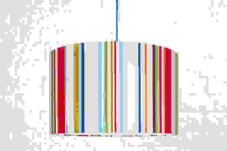 Lampa sufitowa Kolorowe paski od youngDECO Nowoczesny Bawełna Czerwony
