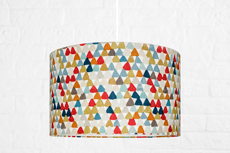 Lampa sufitowa Kolorowe trójkąciki od youngDECO Nowoczesny Bawełna Czerwony