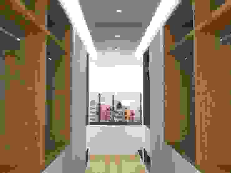 .: Pasillos y vestíbulos de estilo  por RRA Arquitectura
