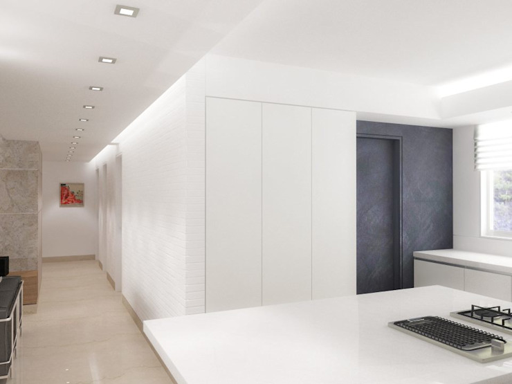 . Pasillos, vestíbulos y escaleras de estilo minimalista de RRA Arquitectura Minimalista