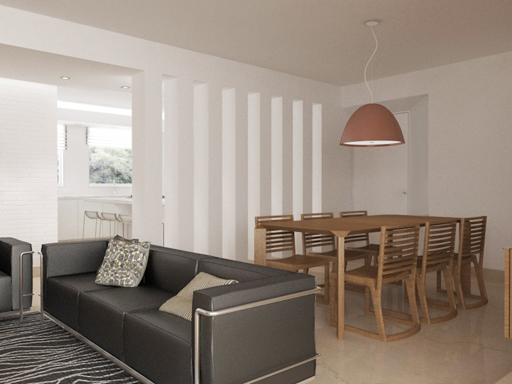 . RRA Arquitectura Salas de estilo minimalista