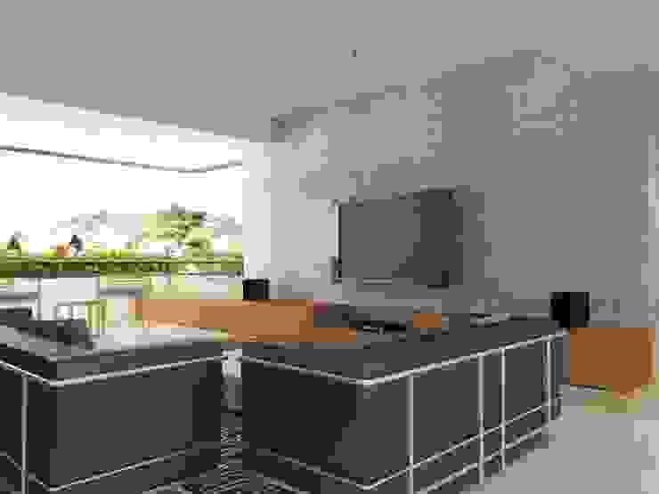 . Salas de estilo minimalista de RRA Arquitectura Minimalista