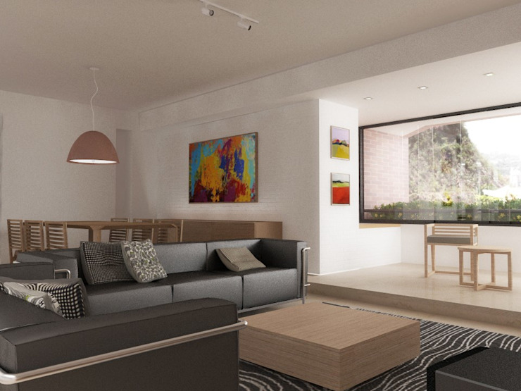 .: Salas / recibidores de estilo  por RRA Arquitectura