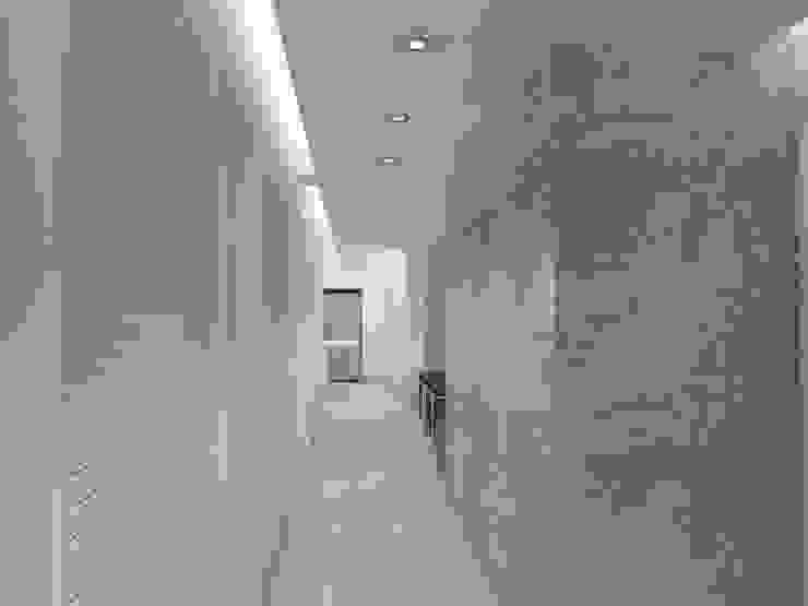 . RRA Arquitectura Pasillos, vestíbulos y escaleras de estilo minimalista