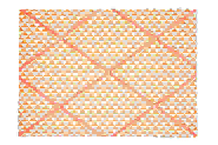 MemoryBoard Trójkąciki pomarańczowe od youngDECO Skandynawski Bawełna Czerwony