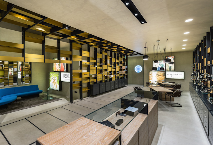 OMR_MTS2_4 Lojas e Espaços comerciais modernos por XYZ Arquitectos Associados Moderno