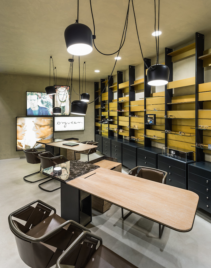 OMR_MTS2_8 Lojas e Espaços comerciais modernos por XYZ Arquitectos Associados Moderno