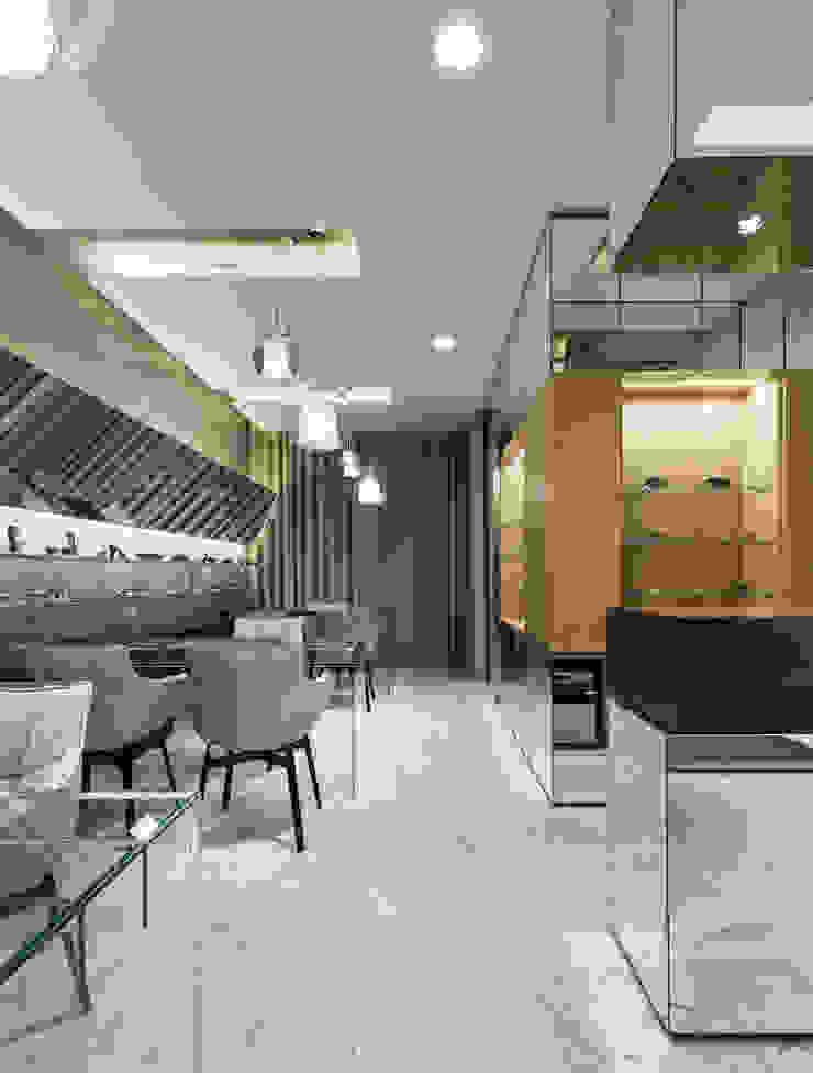 OM_10 Lojas e Espaços comerciais modernos por XYZ Arquitectos Associados Moderno