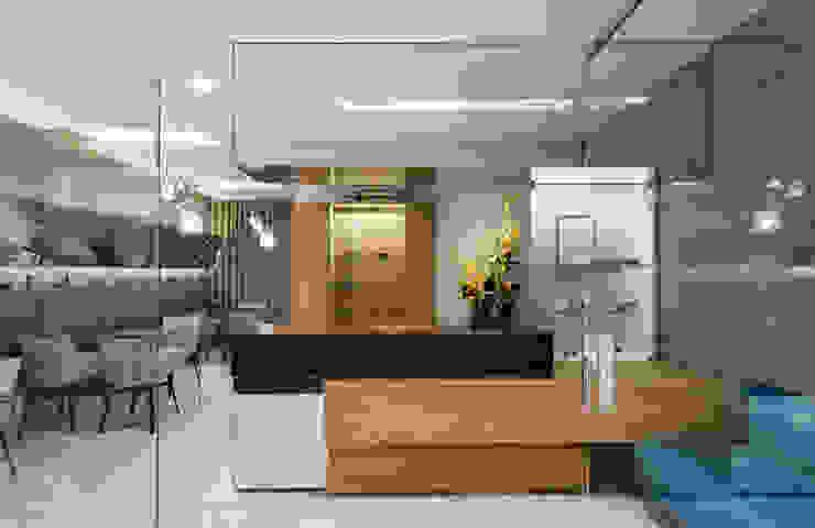 OM_12 Lojas e Espaços comerciais modernos por XYZ Arquitectos Associados Moderno