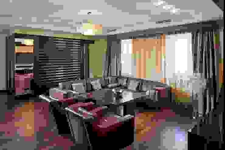 Частные апартаменты 2. Гостиные в эклектичном стиле от А3 ARCHITECTURAL BUREAU Эклектичный