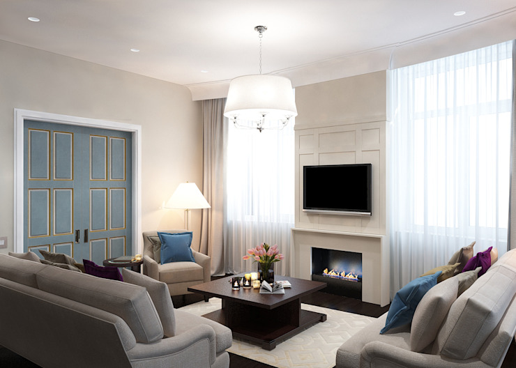 Classic style living room by Бюро9 - Екатерина Ялалтынова Classic