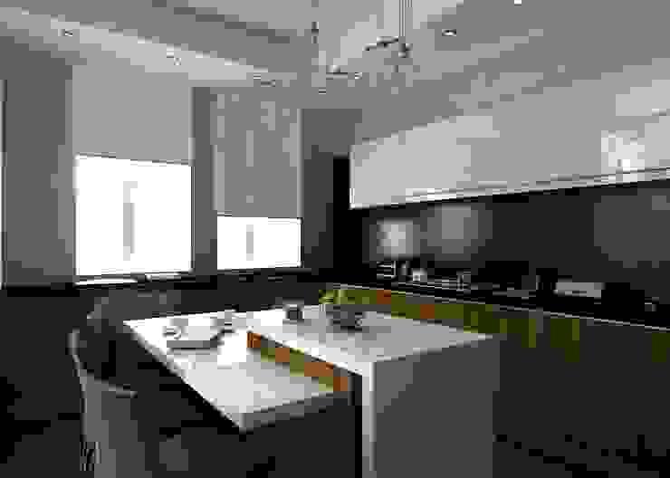 Кухня Кухня в стиле минимализм от Бюро9 - Екатерина Ялалтынова Минимализм