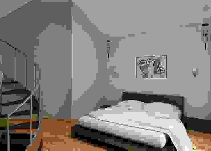 Спальня Спальня в стиле минимализм от Бюро9 - Екатерина Ялалтынова Минимализм