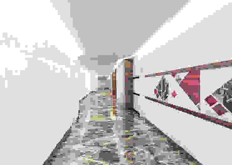 Коридор Офисные помещения в эклектичном стиле от Бюро9 - Екатерина Ялалтынова Эклектичный