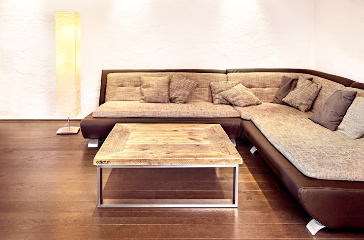 Coffee table stainless steel Rustic style living room by edictum - UNIKAT MOBILIAR Rustic