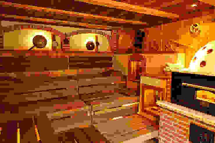 Saunabänke aus Thermoholz Erdmann Exklusive Saunen Rustikaler Spa
