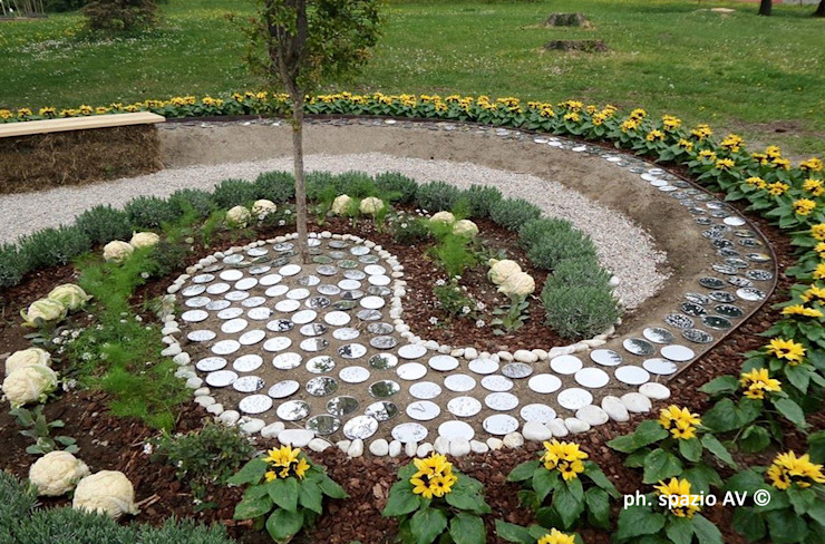 สวน โดย SPAZIO AV ARCHITETTURA VERDE AMBIENTE ARTE, คันทรี่