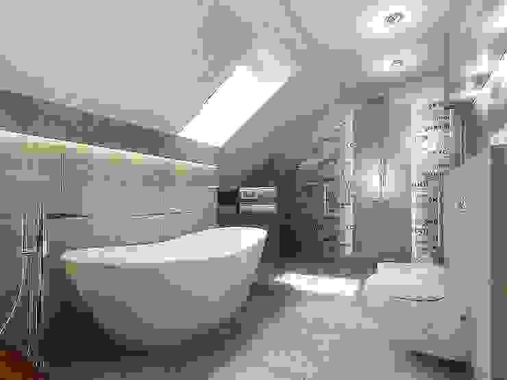 Łazienka na poddaszu od Intellio designers