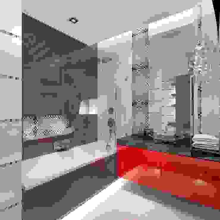 Projekt łazienki Nowoczesna łazienka od Intellio designers Nowoczesny