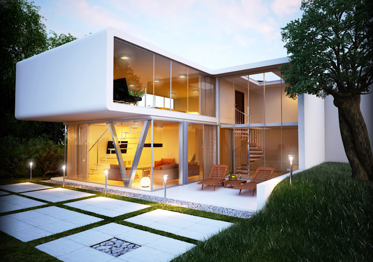Visualizzazioni interni Case moderne di PlanimetrieArredate.it Moderno