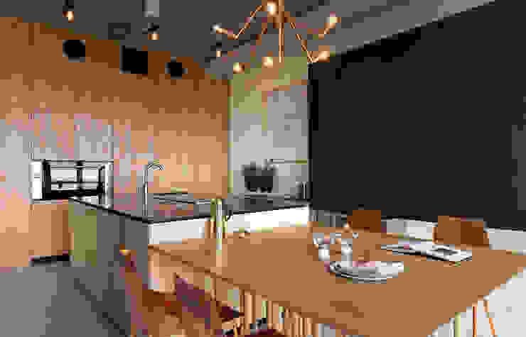 NPL. Penthouse Industrialna kuchnia od Olga Akulova DESIGN Industrialny