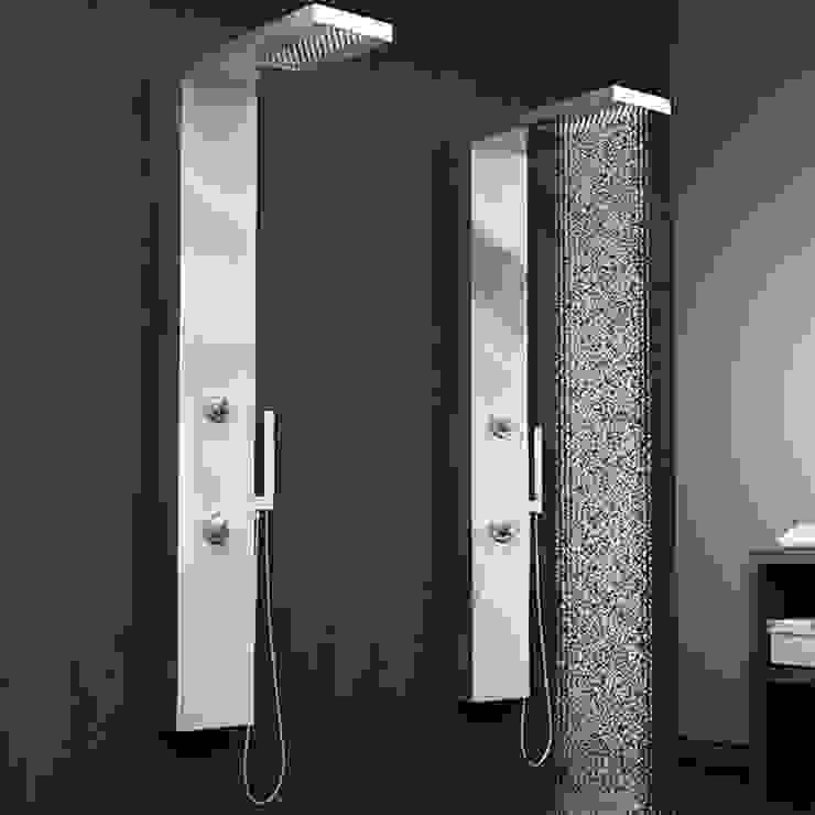 Colonne de douche hydromassante mécanique MIZU SAGOBAR par Batiwiz SAS Moderne Fer / Acier