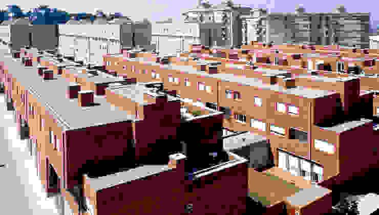 Vista Casas modernas por MANUEL CORREIA FERNANDES, ARQUITECTO E ASSOCIADOS Moderno Tijolo