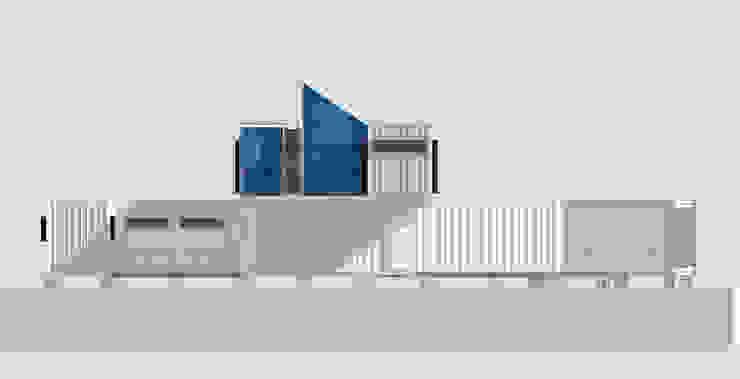 West elevation Casas modernas de Ecosa Institute Moderno