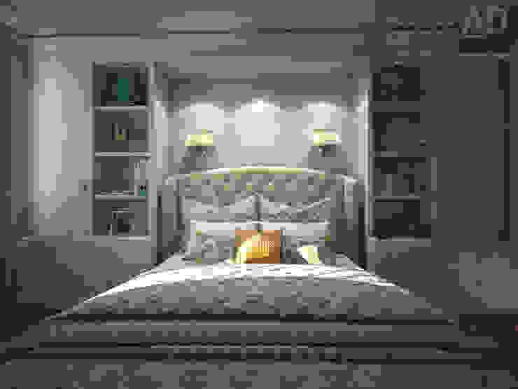 Дизайн интерьера спальни в двухэтажном доме, 120 кв. м, Московская область Спальня в классическом стиле от Ad-home Классический