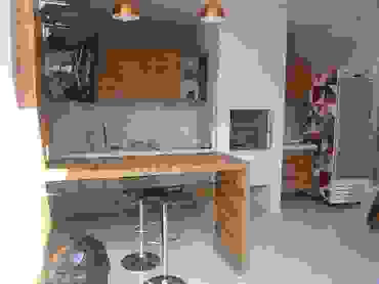 Residência Vale do Paraíba – SP Varandas, alpendres e terraços modernos por ANALU ANDRADE - ARQUITETURA E DESIGN Moderno