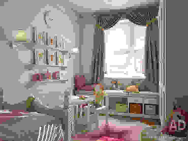 Дизайн интерьера детской комнаты в двухэтажном доме, 120 кв. м, Московская область Детская комнатa в классическом стиле от Ad-home Классический