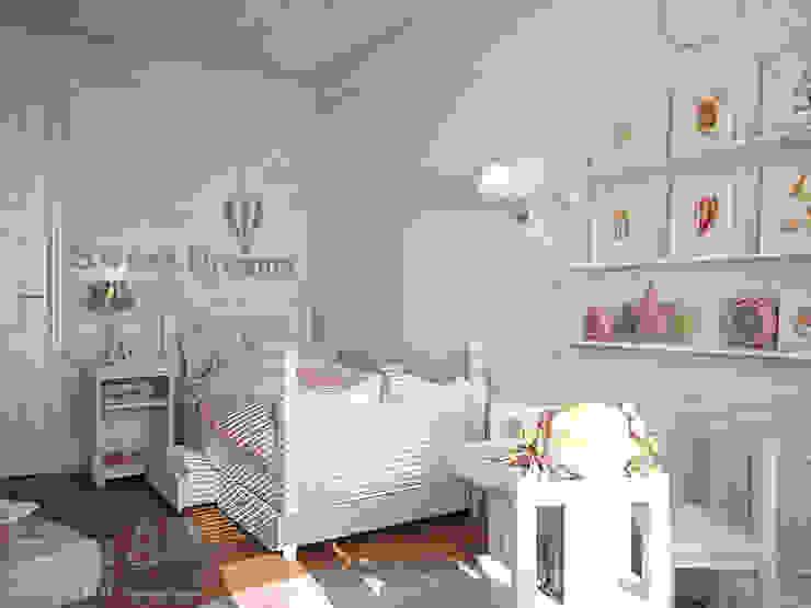 Дизайн интерьера детской комнаты в двухэтажном доме, 120 кв. м, Московская область: Детские комнаты в . Автор – Ad-home,