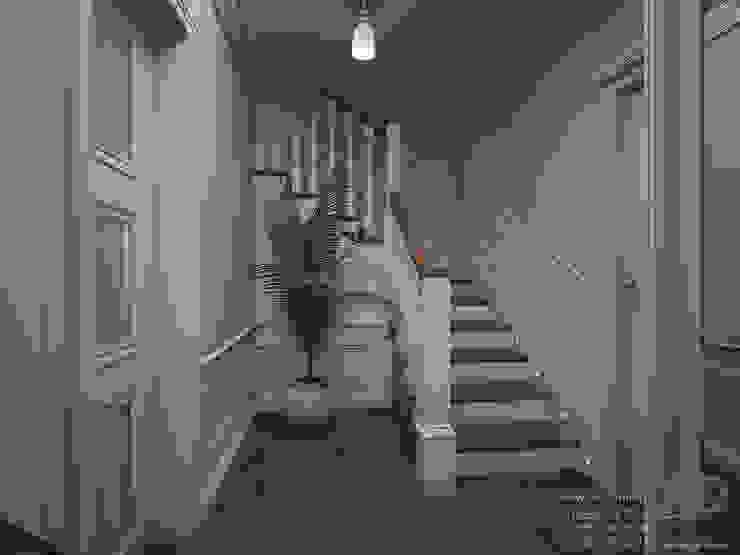 Дизайн интерьера коридора в двухэтажном доме, 120 кв. м, Московская область Коридор, прихожая и лестница в классическом стиле от Ad-home Классический