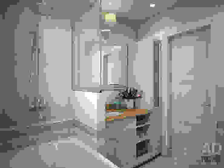 Дизайн интерьера ванной комнаты в двухэтажном доме, 120 кв. м, Московская область Ванная в классическом стиле от Ad-home Классический