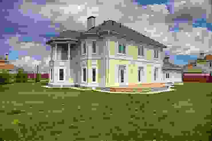 Дизайн фасада двухэтажного дома, 120 кв. м, Московская область Дома в классическом стиле от Ad-home Классический