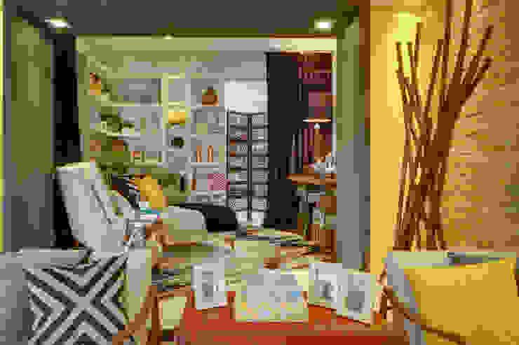 Living room by Studio², Modern Engineered Wood Transparent