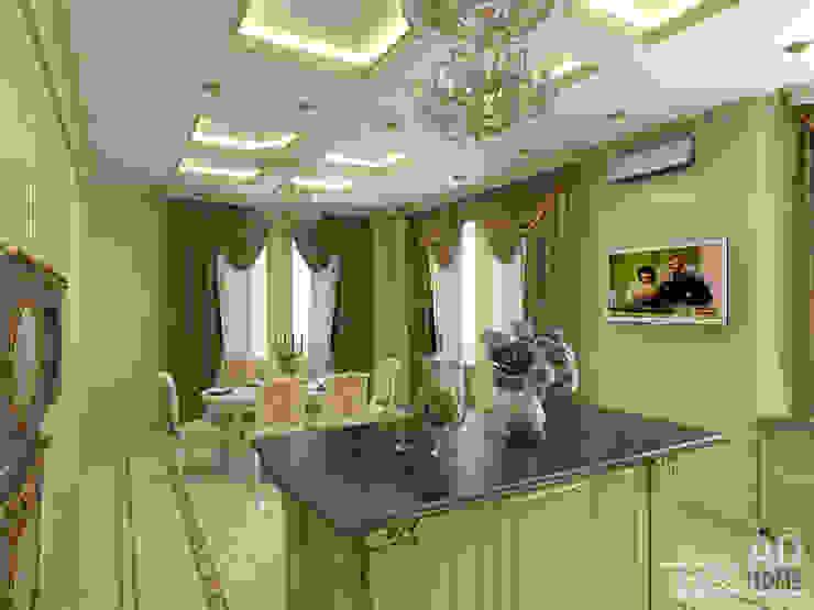 Дизайн интерьера столовой в доме в классическом стиле , 370 кв. м в, Московская область Столовая комната в классическом стиле от Ad-home Классический