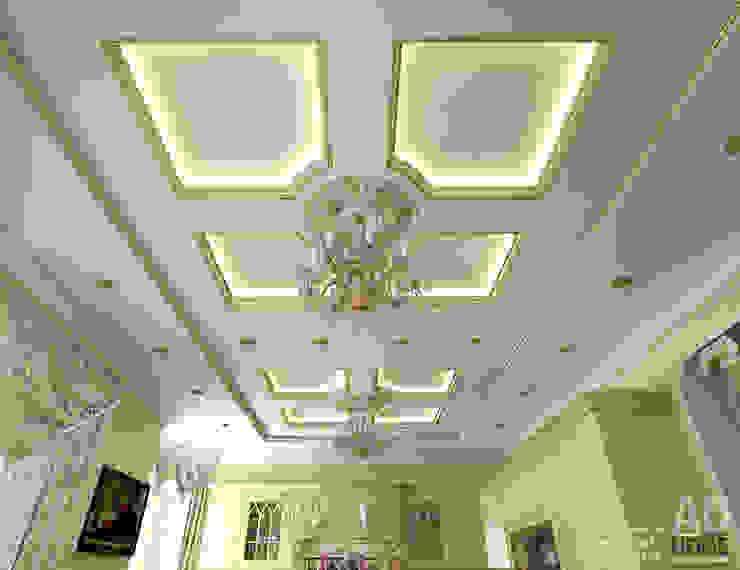 Дизайн интерьера кухни в доме в классическом стиле , 370 кв. м в, Московская область Кухня в классическом стиле от Ad-home Классический