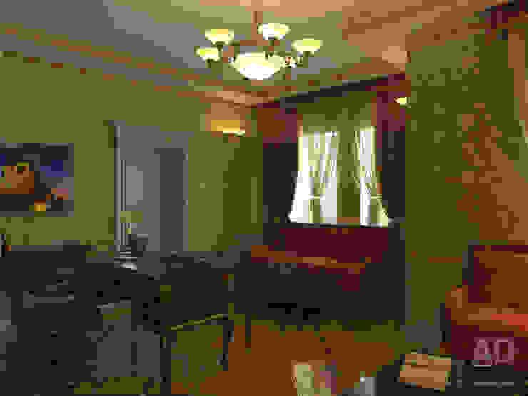 Дизайн интерьера кабинета в доме в классическом стиле , 370 кв. м в, Московская область Рабочий кабинет в классическом стиле от Ad-home Классический
