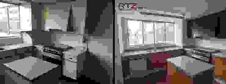 Remodelacion de cocina rescatando estrucura de RTZ-Arquitectos