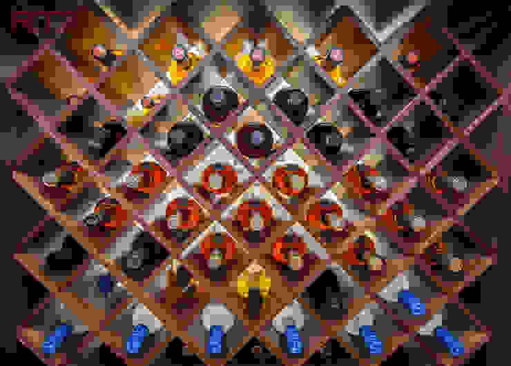 Repisas para bar translucido de RTZ-Arquitectos Moderno