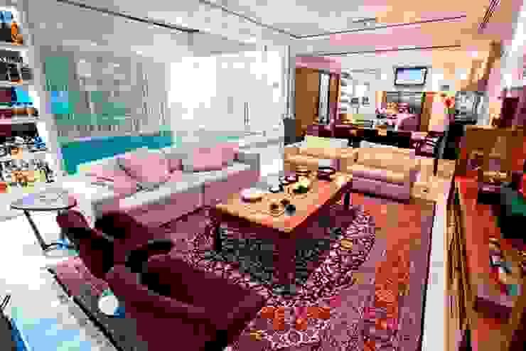 Salão Integrado Ariane Labre Arquitetura Salas de estar modernas