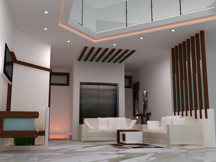 Duplex Residence Modern living room by BAVA RACHANE Modern