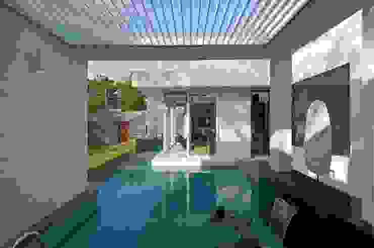 NP Villa Modern pool by Atelier Design N Domain Modern