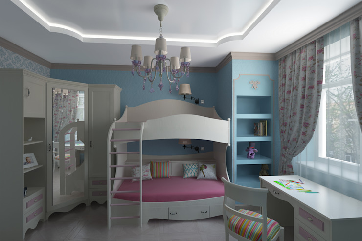 Classic style nursery/kids room by Анна Путенис. Дизайнер и 3D- визуализатор (интерьеры) Classic
