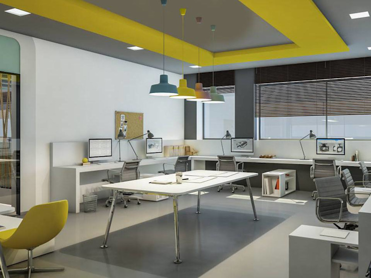 homify Modern office buildings