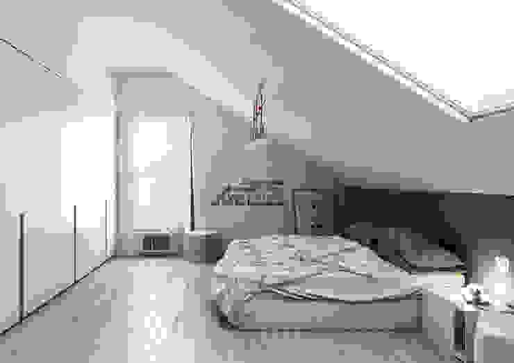 غرفة نوم تنفيذ Simone Manna 3D, حداثي